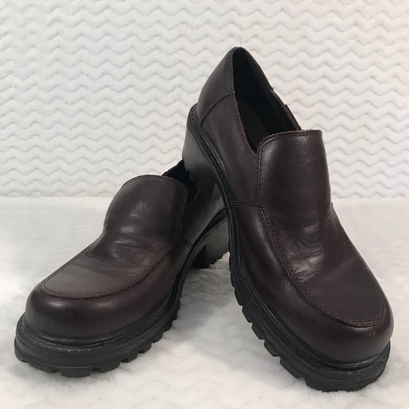 Dockers Womens Leather Slip On Loafers